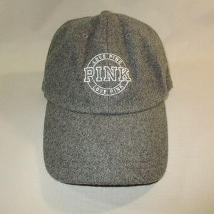 Victoria's Secret Love Pink Grey Wool Cap OS